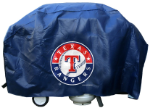 Texas Grill Cover with Rangers Logo on Blue Vinyl - Economy