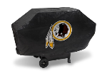 Washington Grill Cover with Redskins Logo on Black Vinyl - Deluxe