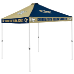 Georgia Tech Tent w/ Yellow Jackets Logo - 9 x 9 Checkerboard Canopy