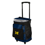 Michigan Rolling Cooler w/ Wolverines Logo - 24 Cans
