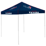 Houston Tent w/ Texans Logo - 9 x 9 Solid Color Canopy