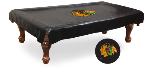 Chicago Pool Table Cover w/ Blackhawks Logo - Black Vinyl