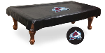 Colorado Pool Table Cover w/ Avalanche Logo - Black Vinyl