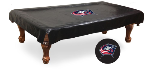 Columbus Pool Table Cover w/ Blue Jackets Logo - Black Vinyl