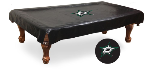 Dallas Pool Table Cover w/ Stars Logo - Black Vinyl