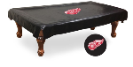 Detroit Pool Table Cover w/ Red Wings Logo - Black Vinyl