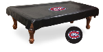 Montreal Pool Table Cover w/ Canadiens Logo - Black Vinyl