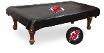 New Jersey Pool Table Cover w/ Devils Logo - Black Vinyl