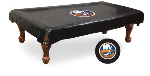 New York Pool Table Cover w/ Islanders Logo - Black Vinyl