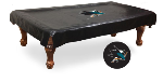 San Jose Pool Table Cover w/ Sharks Logo - Black Vinyl