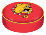 Ferris State Bulldogs Bar Stool Seat Cover By HBS