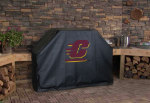 Central Michigan Grill Cover with Chippewas Logo on Black Vinyl
