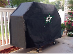 Dallas Grill Cover with Stars Logo on Black Vinyl
