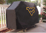 West Virginia Grill Cover with Mountaineers Logo on Black Vinyl