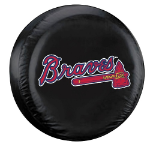 Atlanta Tire Cover with Braves Logo on Black Vinyl - Standard