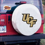 Central Florida Tire Cover with Golden Knights Logo on White