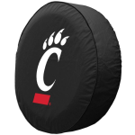 Cincinnati Tire Cover with Bearcats Logo on Black Vinyl