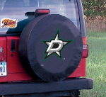 Dallas Tire Cover with Stars Logo on Black Vinyl