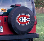 Montreal Tire Cover with Canadiens Logo on Black Vinyl
