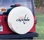 Washington Tire Cover with Capitals Logo on White Vinyl