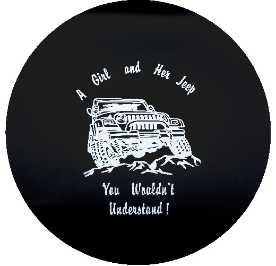 A Girl and Her Jeep Tire Cover