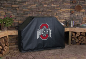 Ohio State Grill Cover with Buckeyes Logo on Black Vinyl