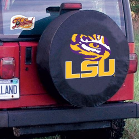 Louisiana State University Tire Cover with Tigers Logo