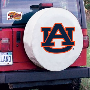 Auburn Tigers Tire Cover on White Vinyl