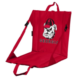 Georgia Stadium Seat w/ Bulldogs Logo - Cushioned Back