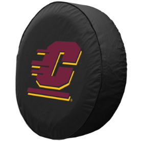 Central Michigan Tire Cover with Chippewas Logo on Black