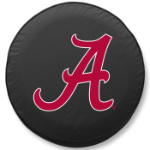 Alabama Crimson Tide Black Spare Tire Cover By HBS