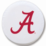 Alabama Crimson Tide White Spare Tire Cover By HBS