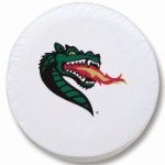 Alabama Birmingham Blazers White Spare Tire Cover By HBS