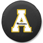 Appalachian State Mountaineers Black Tire Cover By HBS