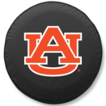 Auburn Tigers Black Spare Tire Cover By HBS