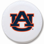 Auburn Tigers White Spare Tire Covers By HBS