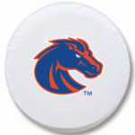 Boise State Broncos White Spare Tire Cover By HBS