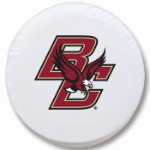 Boston College Eagles White Spare Tire Cover By HBS