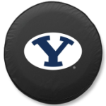 Brigham Young Cougars Black Spare Tire Cover By HBS