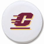 Central Michigan Chippewas White Spare Tire Cover By HBS