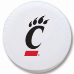 Cincinnati Bearcats White Spare Tire Cover By HBS