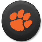 Clemson Tigers Black Spare Tire Cover By HBS