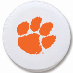Clemson Tigers White Spare Tire Cover By HBS