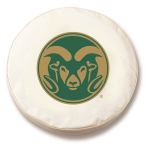 Colorado State Rams White Spare Tire Covers By HBS