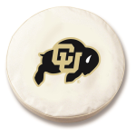 Colorado Buffaloes White Spare Tire Cover By HBS