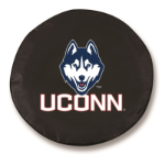 Connecticut Huskies Black Spare Tire Cover by HBS