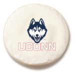 Connecticut Huskies White Spare Tire Cover By HBS