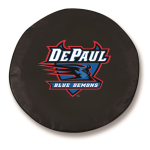 DePaul Blue Demons Black Spare Tire Cover By HBS