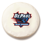 DePaul Blue Demons White Spare Tire Cover By HBS
