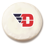 Dayton Flyers White Spare Tire Cover By HBS